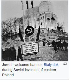 JEWISH WELCOME TO SOVIETS 1939